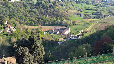 Looking down on Monastero di Astino