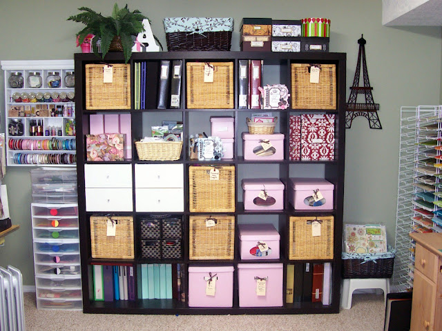 Creative Scrapbook Craft Organizing with IKEA Expedit