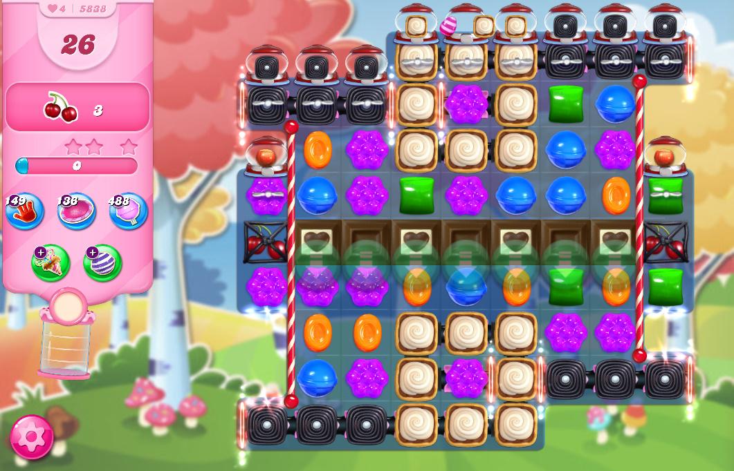 Candy Crush Saga level 5838