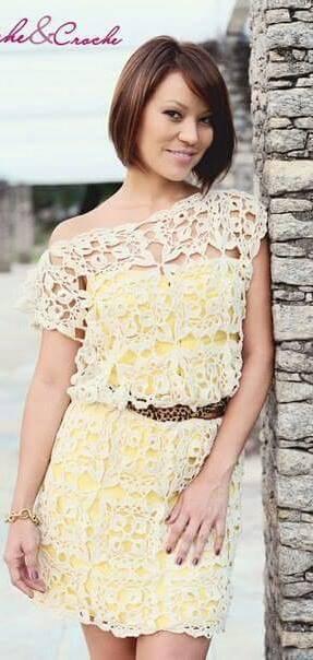 Crochet esquemas: Otra linda polera