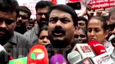 Seeman Speech in Press meet about Sterlite issue