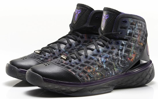competitive price ea129 17483 The Nike Zoom Kobe III gets its first retro release in this all new black,  multi-color and imperial purple colorway. Inspired by the