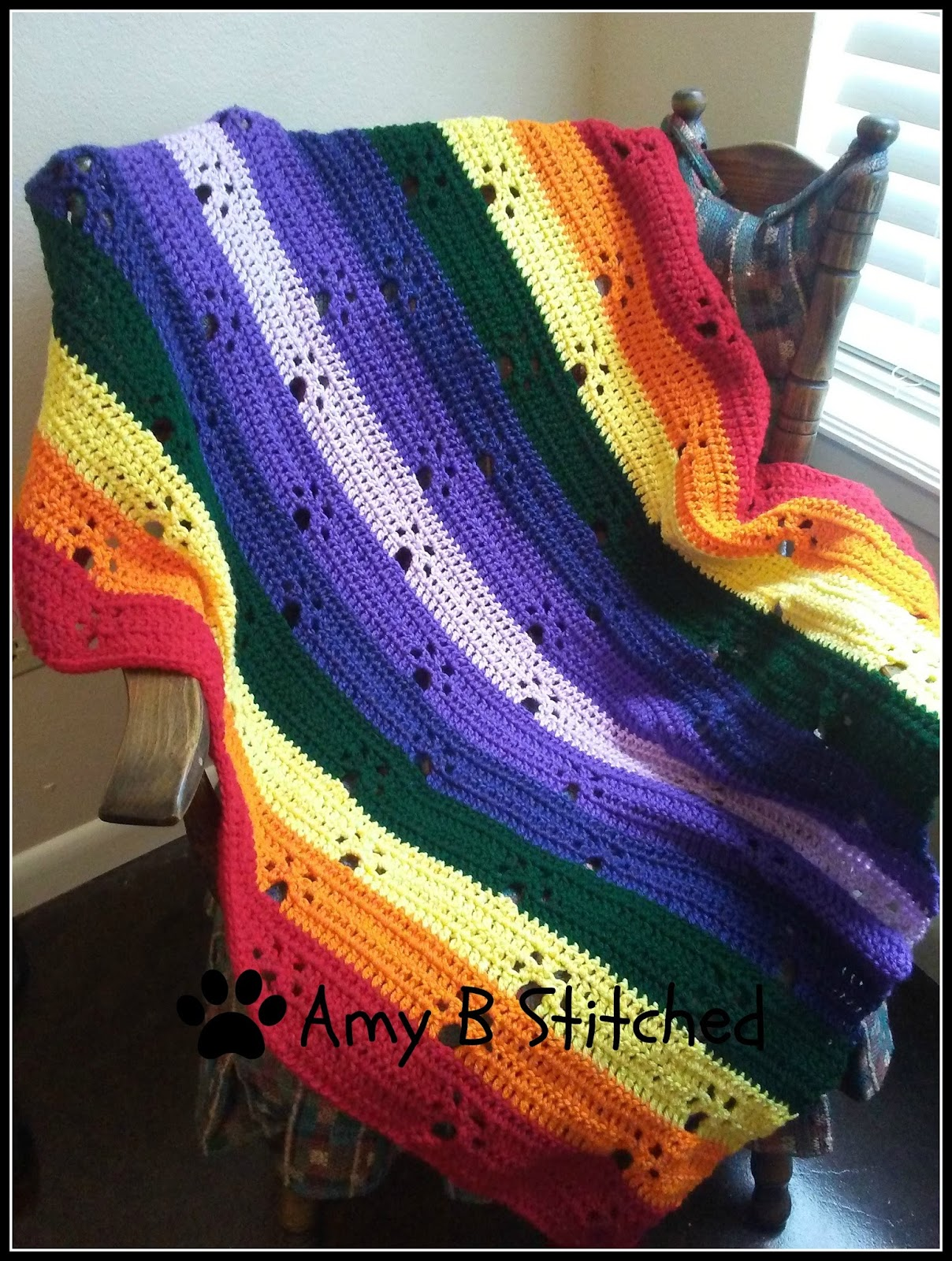 A Stitch At A Time for Amy B Stitched: Meandering Paw Prints over ...