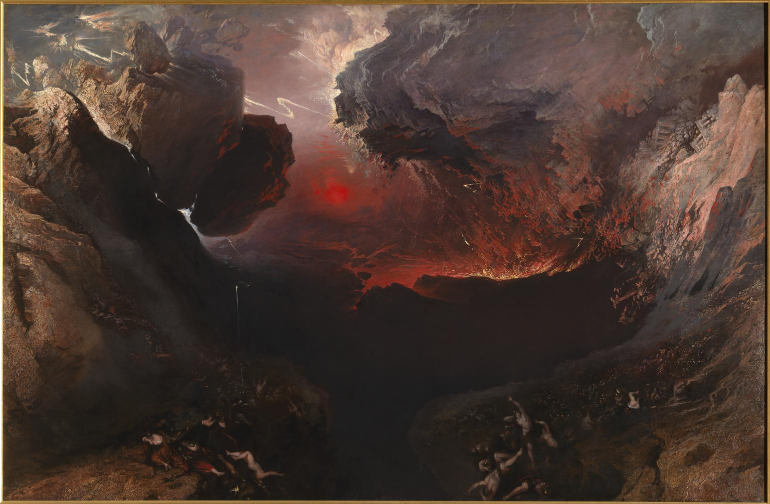 The Great Day Of His Wrath (1851-3), oil paint on canvas by John Martin (1789–1854). Image released by tate.org.uk under Creative Commons CC-BY-NC-ND (3.0 Unported).