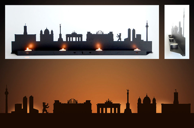 Berlin City Skyline Candle Holders