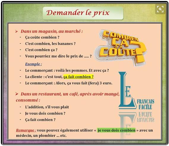 Z życia wzięte #1 - Pytanie o cenę - slownictwo 3 - Francuski przy kawie