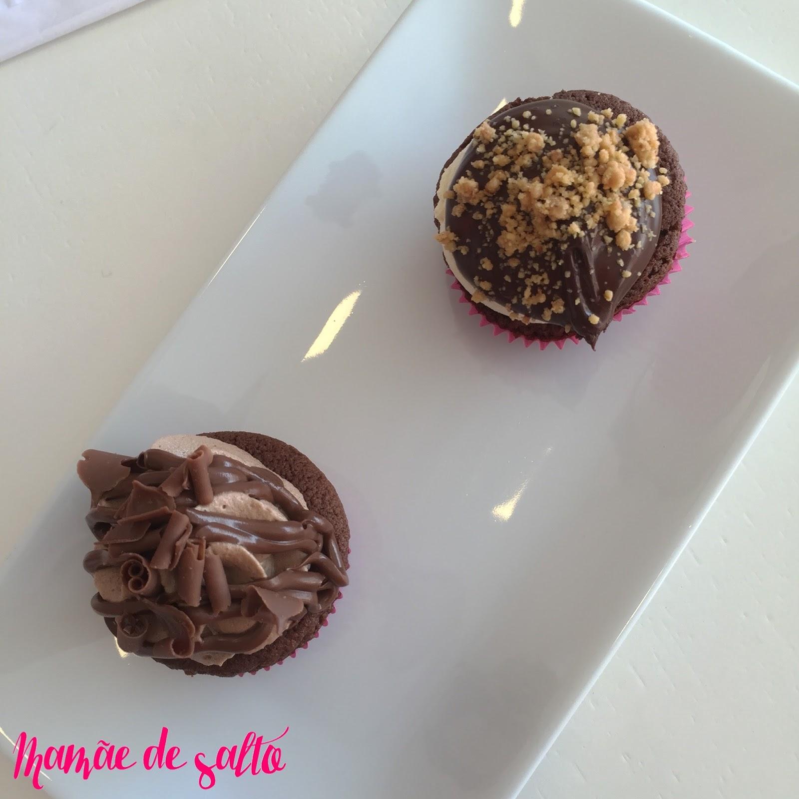 cupcake nutella e paçoca Sugar Bakery Curitiba/PR ... blog Mamãe de Salto