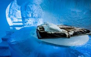 Vẻ đẹp ấn tượng bên trong khách sạn băng giá ở Thụy Điển 1