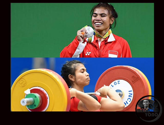 Atlet Putri Angkat Besi Sri Wahyuni Agustiani sumbang medali Perak untuk Indonesia