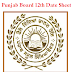 PSEB 12th Date Sheet 2018 - Punjab Board Senior Secondary Date Sheet 2018