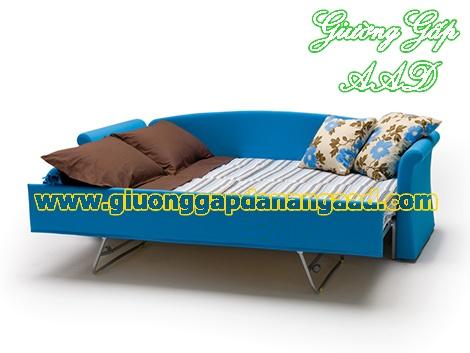 Giường da năng gấp thành ghế sofa sang trọng