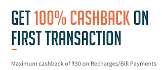Freecharge - Get 100% Cashback [Upto Rs 30]