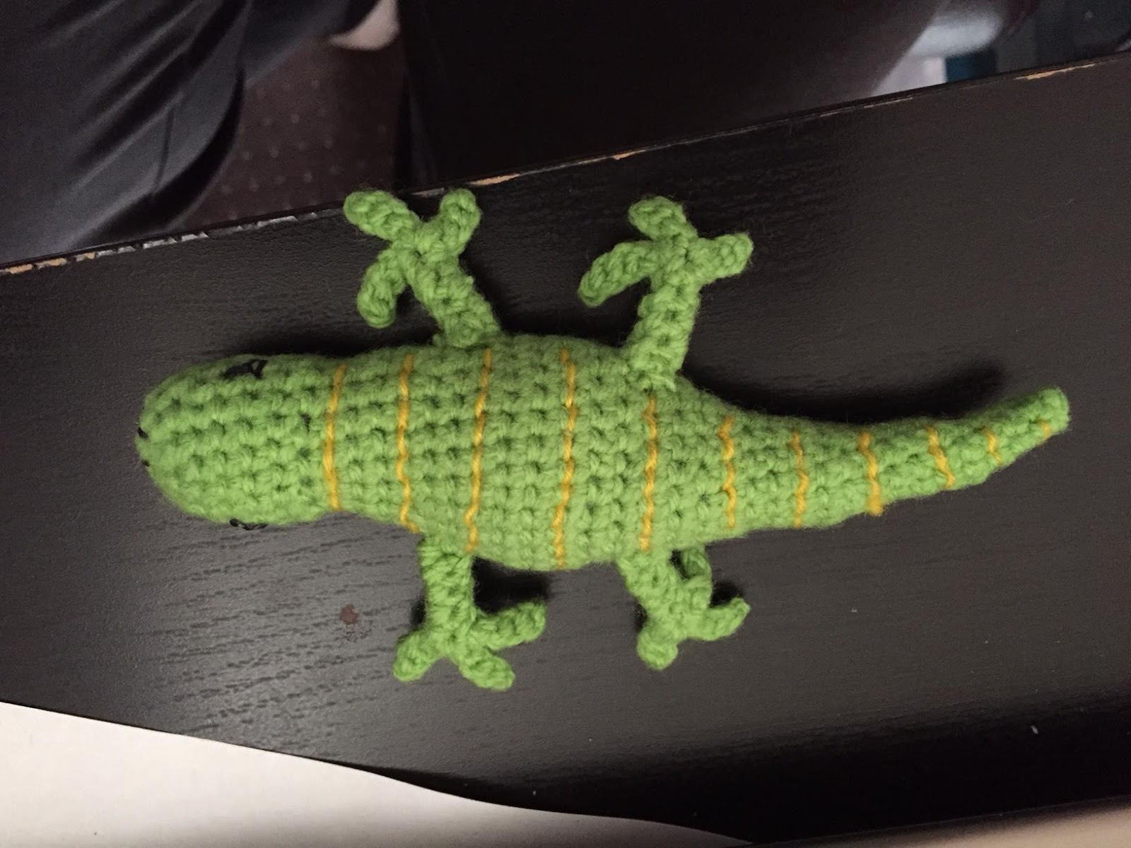 The crochet solution: Lizard