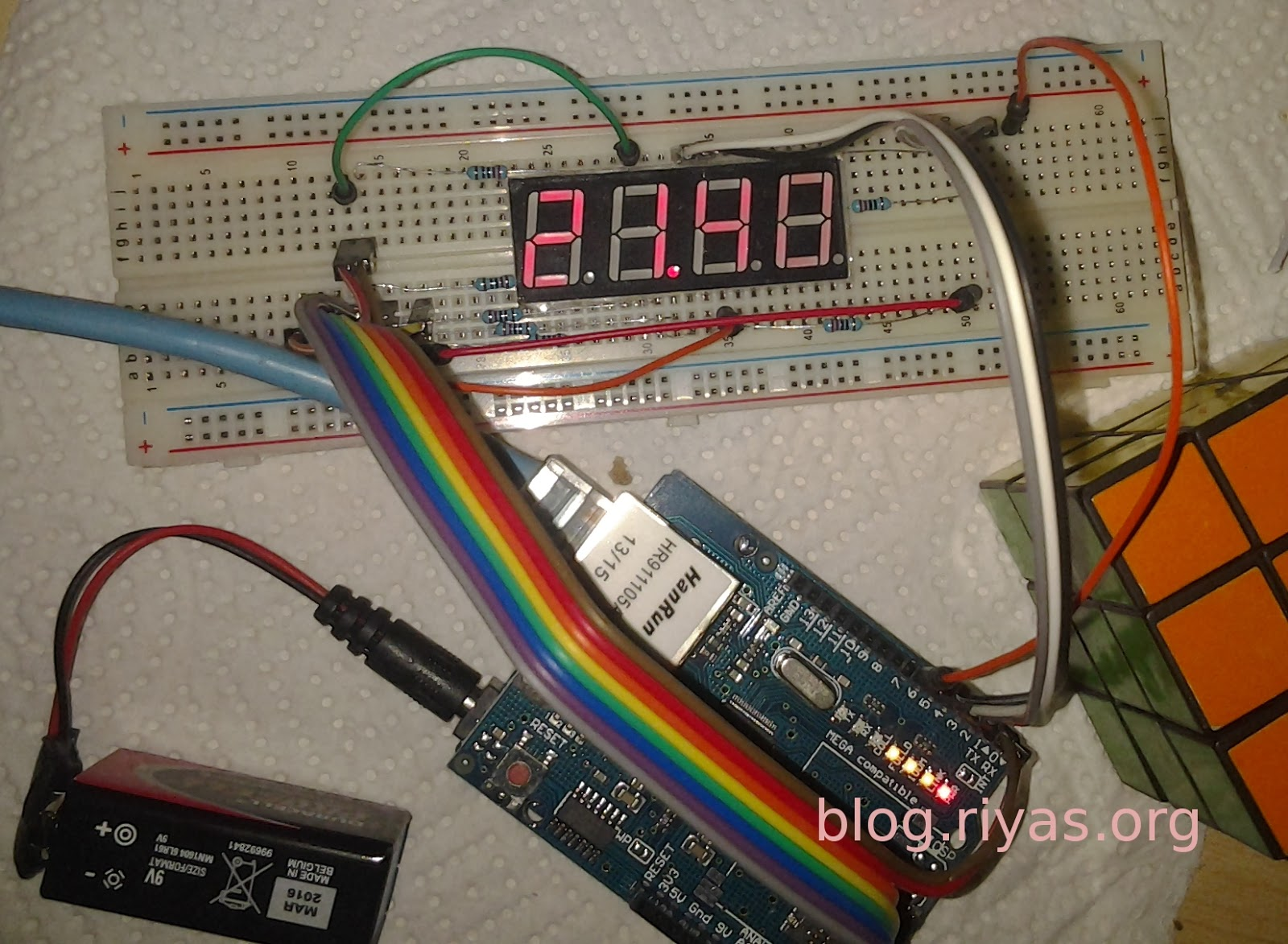 Learn on the fly : A simple arduino clock using ethernet