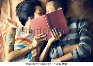 Bedroom Romantic Moment of Couple