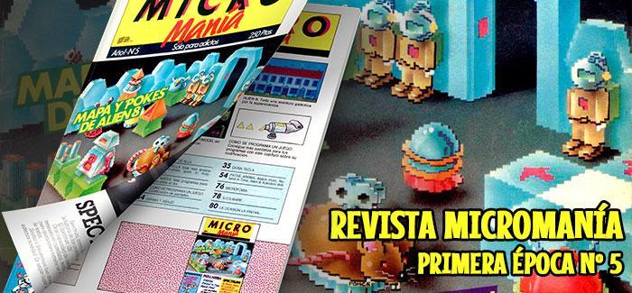 Revista Micromanía Primera época Número 5 1985