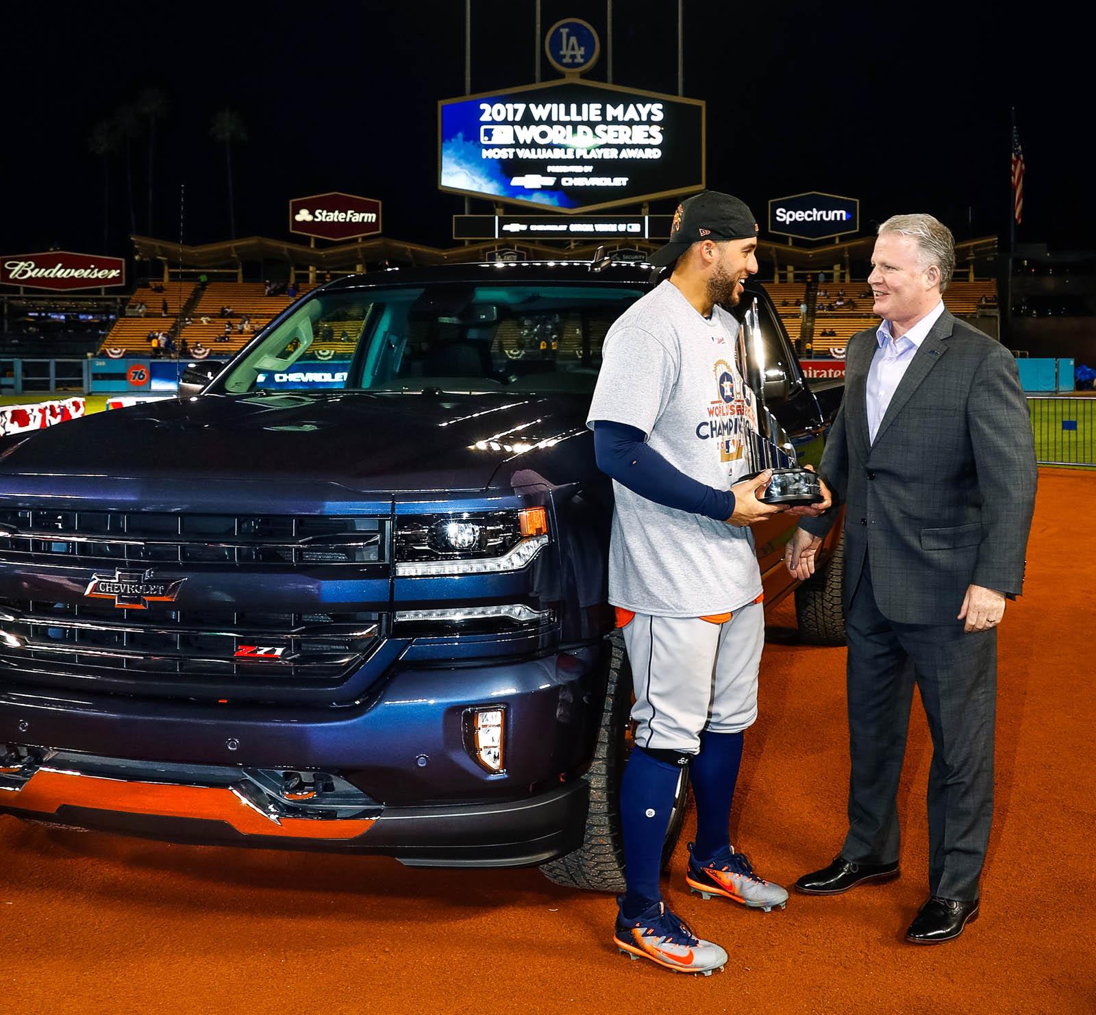 World Series MVP George Springer Gets A Chevy Silverado ...
