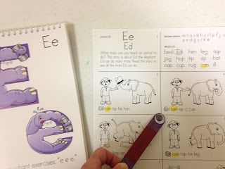 Focus game for preschool reading