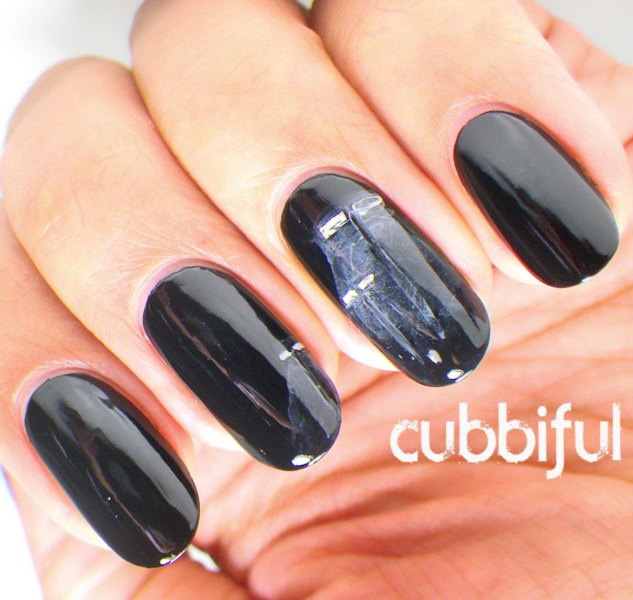 dark night nails for A2Z nail art challenge