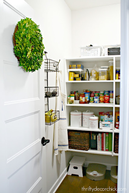 Using the wall space in a walk in pantry