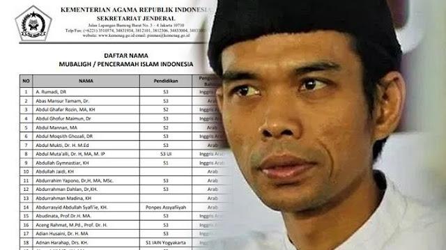 Ustad Somad Tidak Masuk Daftar 200 Dai Kemenag, Berikut ...