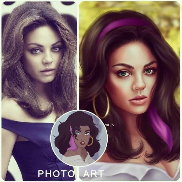 09-Mila-Kunis-As-Esmeralda-Helen-Morgun-Celebrities-and-Disney-www-designstack-co