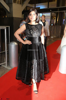 Niveda Thomas Black Sleeveless Cute Dress at 64th Jio Filmfare Awards South 2017 ~  Exclusive 093.JPG