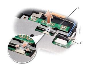 Removing the Button Board Dell Inspiron 1525