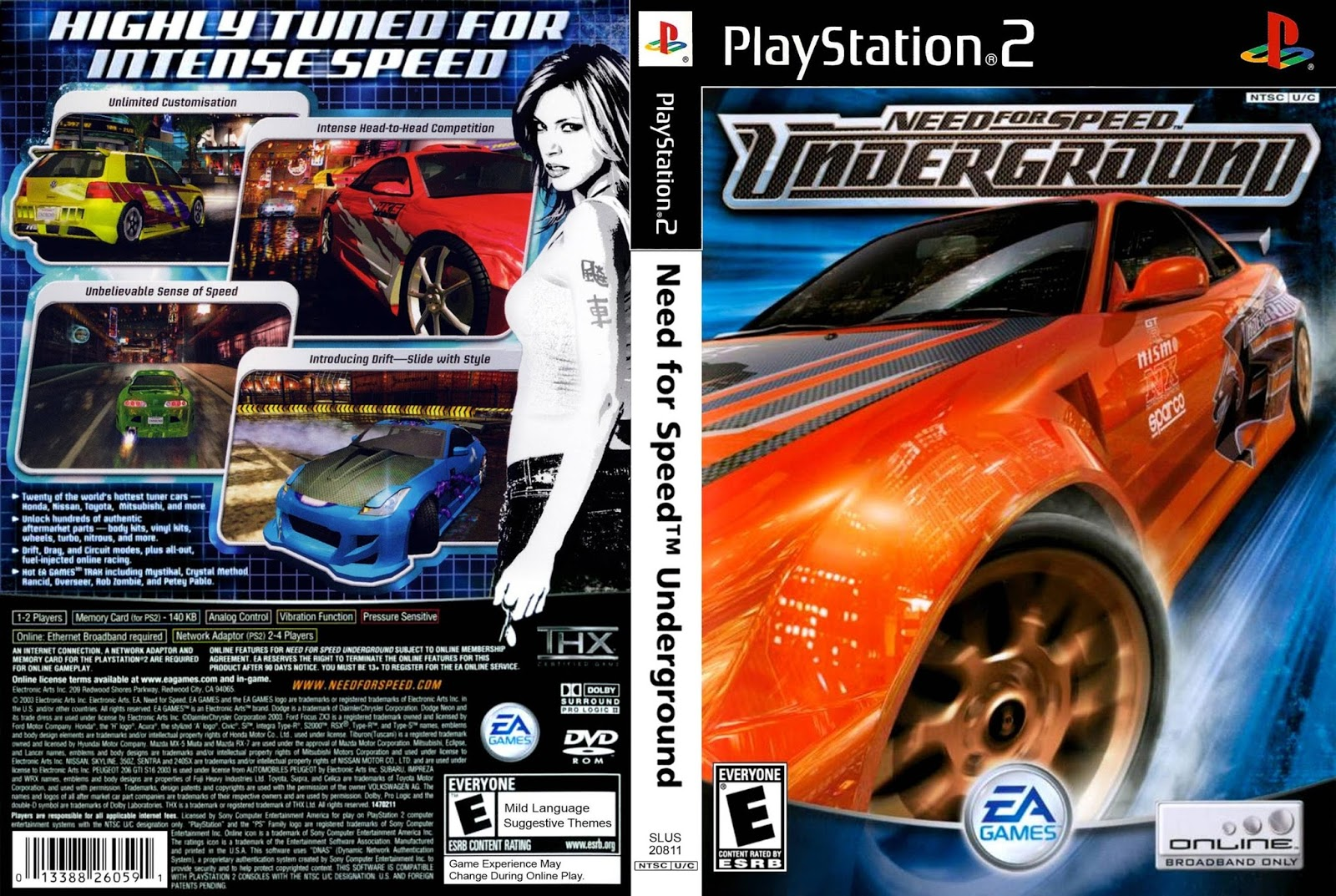 Paraiso Download::..: Need for speed Underground - ISO PS2 Ps2 Need For Speed