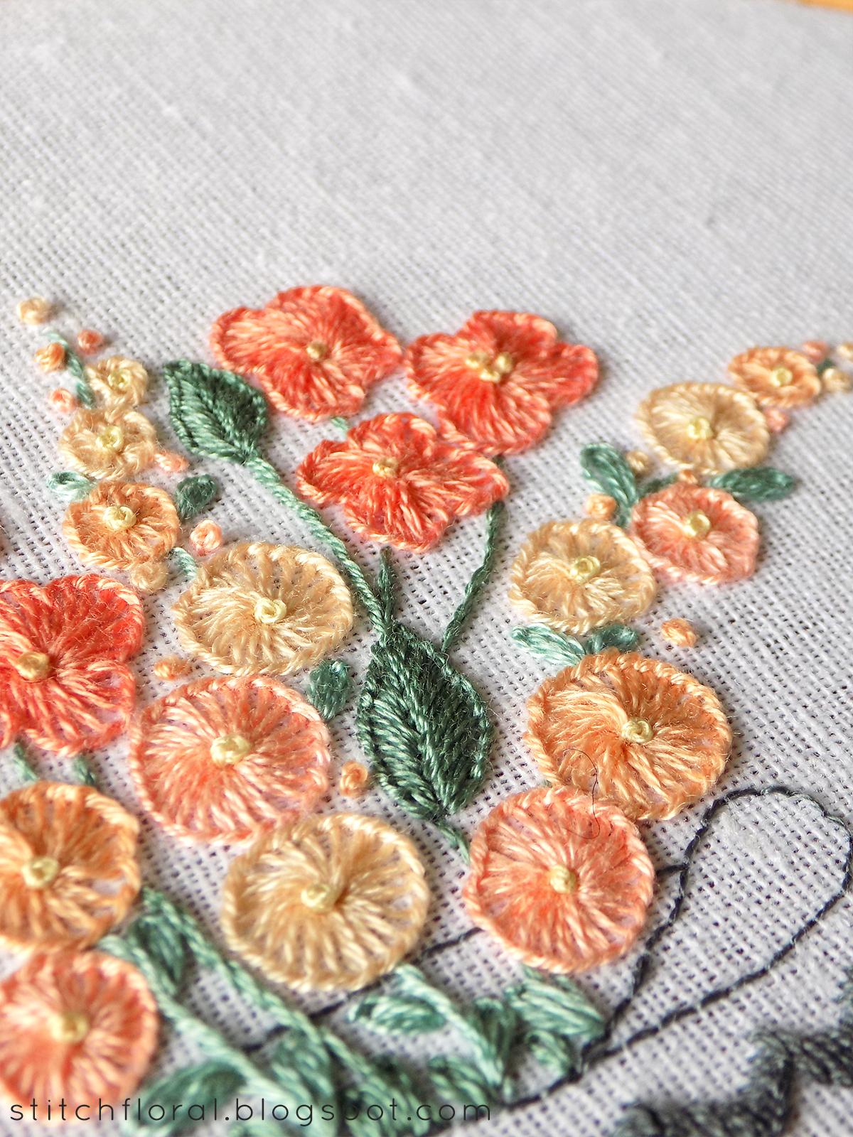 Buttonhole Stitch Practice Free Pdf Pattern Stitch Floral