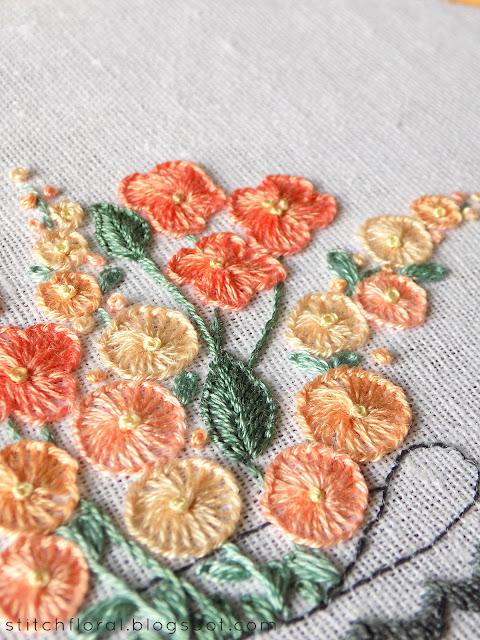 Buttonhole stitch practice: free PDF pattern