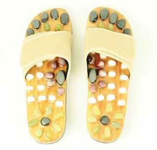 Living Natural Stone Massage Shoes – Reflexology Sandals