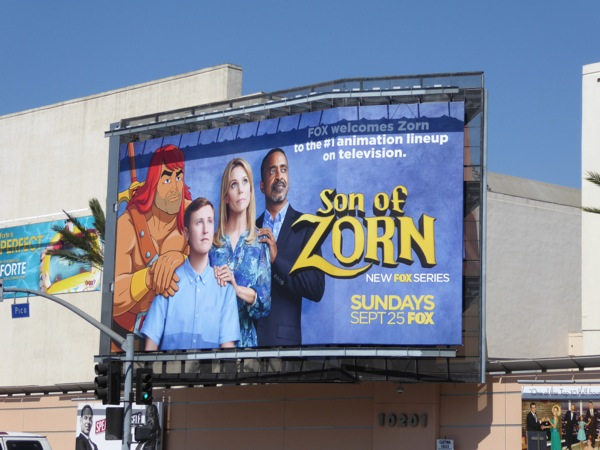 Son of Zorn series launch billboard