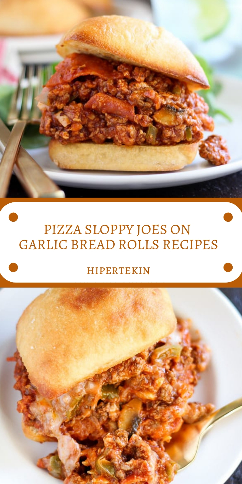 PIZZA SLOPPY JOES ON GARLIC BREAD ROLLS RECIPES