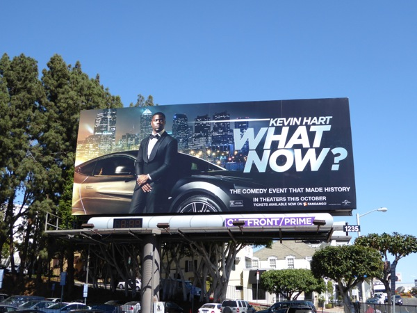 Kevin Hart What Now movie billboard