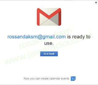 selamat datang di akun email baru di google gmail