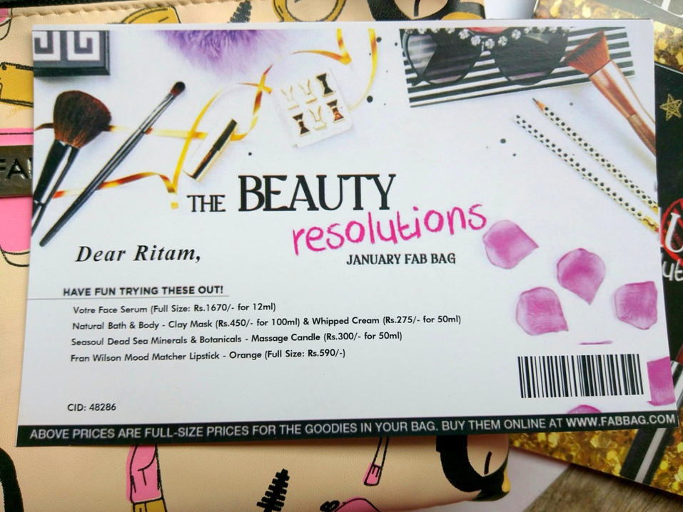 The Beauty Resolutions January Fab Bag