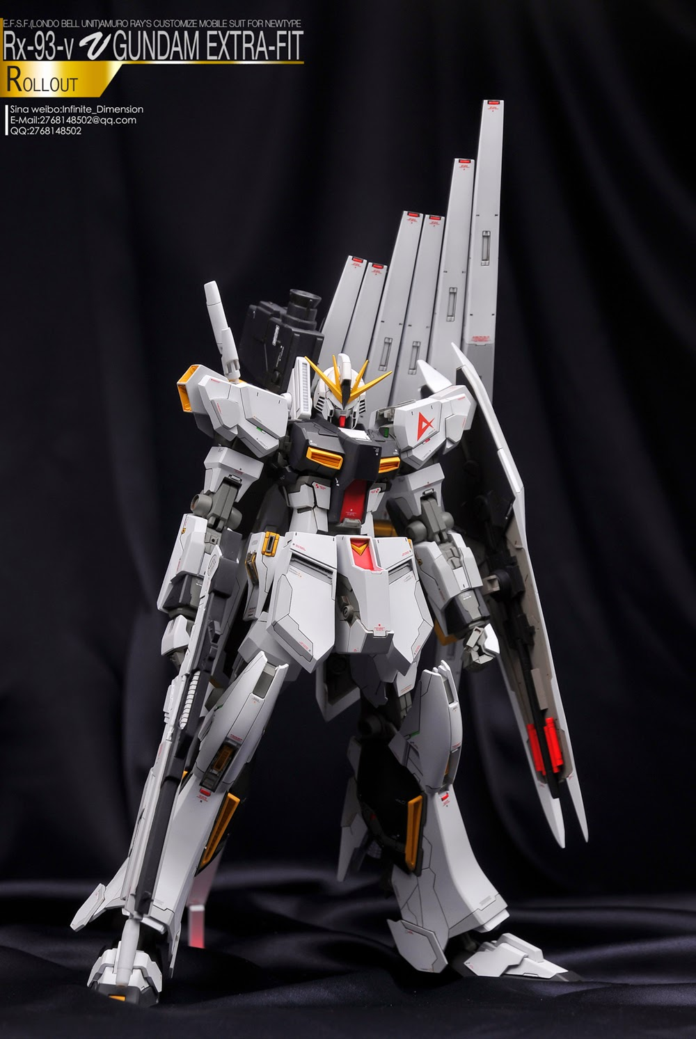Painted Build W R 1 100 Rx 93 Nu Gundam Extra Fit Evolve