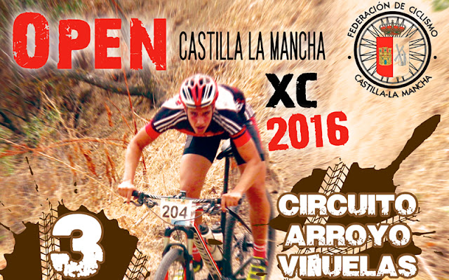vista parcial del cartel anunciador del open castilla la mancha de Mountain Bike. IMAGEN COMUNICACION ILLESCAS