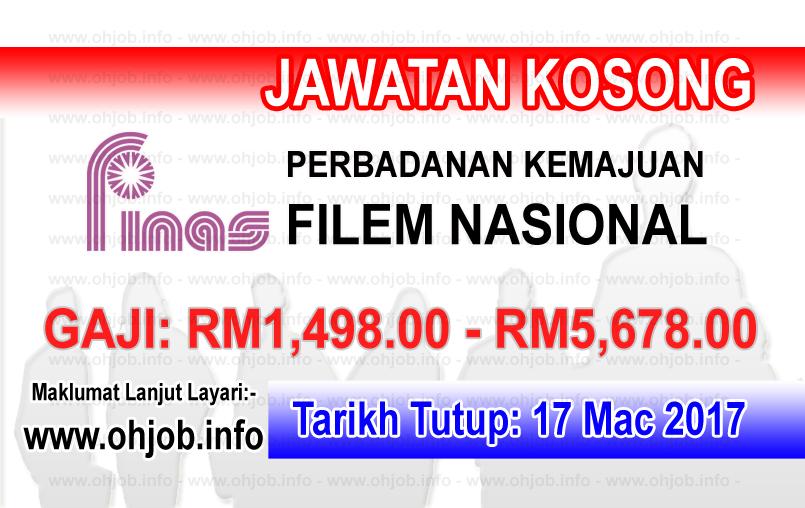 Jawatan Kerja Kosong FINAS - Perbadanan Kemajuan Filem Nasional Malaysia logo www.ohjob.info mac 2017