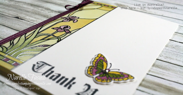Create stunning cards easily with our Stampin' Blends and Graceful Glass vellum. Get  these supplies are more here - http://bit.ly/shopwithnarelle
