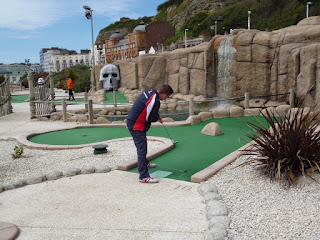 Playing the Pirate Adventure Golf course in Hastings