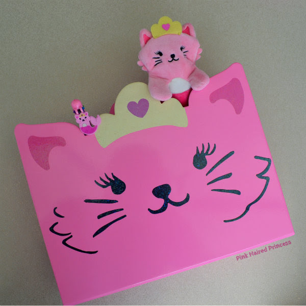 paperchase purr maids pink cat filing unit
