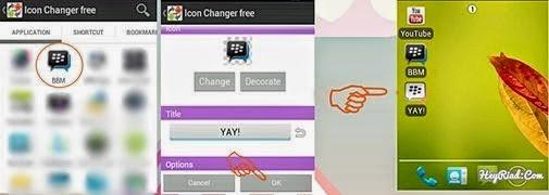 Cara Mengganti dan Merubah Icon BBM Android