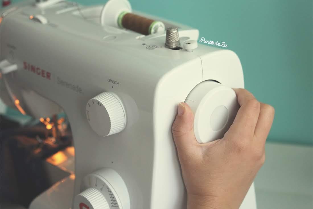 Máquina de coser, partes y funciones principales - Rueda de costura manual