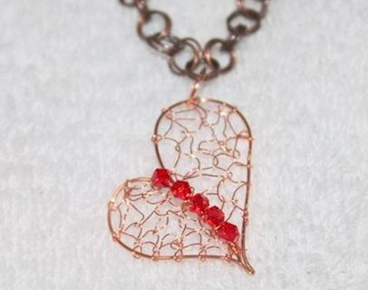 Wire Wrapped Heart Jewelry Tutorials ~ The Beading Gem\'s Journal