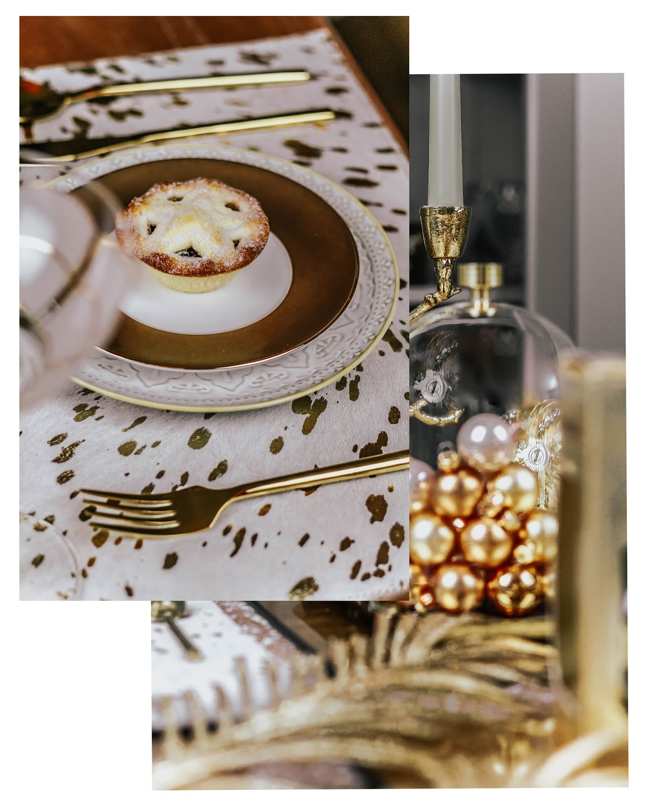 A by Amara Metallic Acid Cowhide Placemats Styling