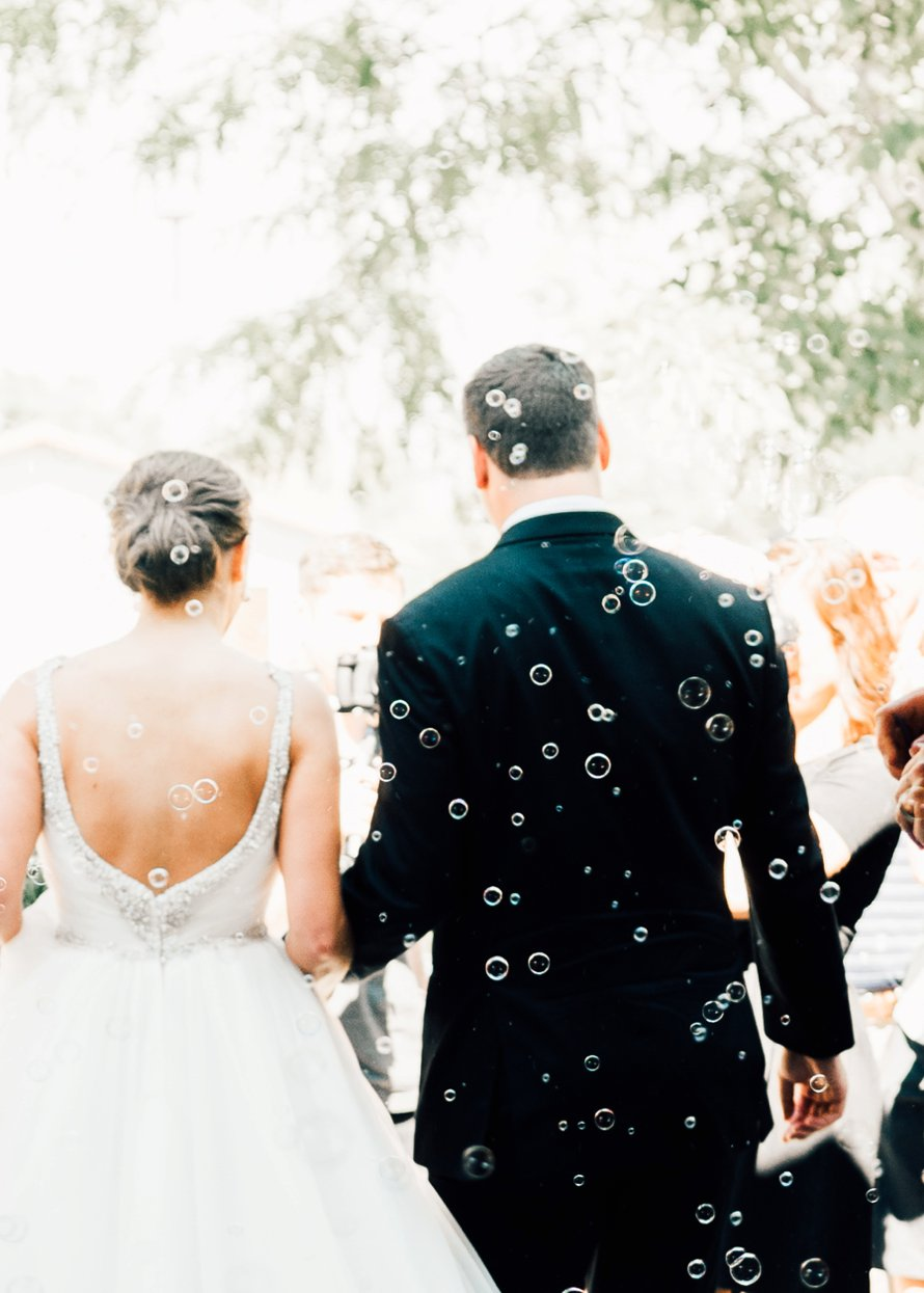 Classic cream and green wedding in the desert by Something Minted Photography