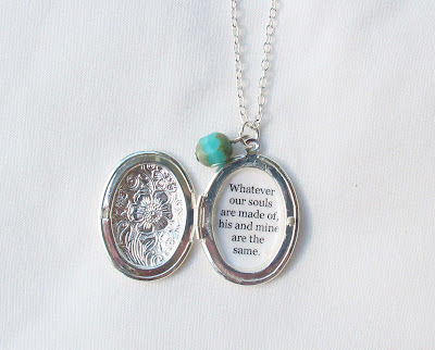 image wuthering heights locket necklace jewellery jewelry emily bronte quote whatever our souls are made of his and mine are the same handmade two cheeky monkeys