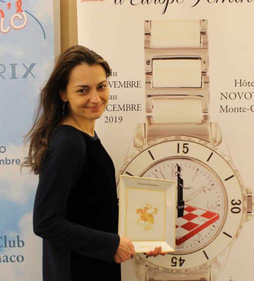 La Russe Alexandra Kosteniuk remporte le Grand Prix d'échecs de Monaco - Photo © Échecs & Stratégie